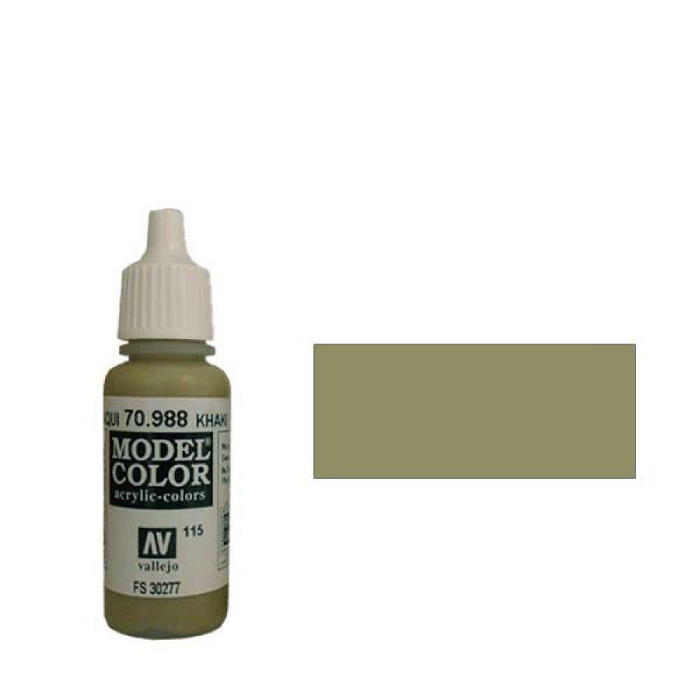 115. Краска Model Color Хаки 988 (Khaki) укрывистый, 17мл