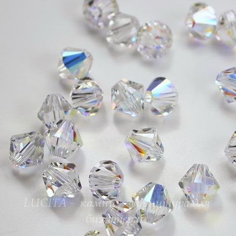 5328 Бусина - биконус Сваровски Crystal AB 6 мм, 5 штук (6 мм)