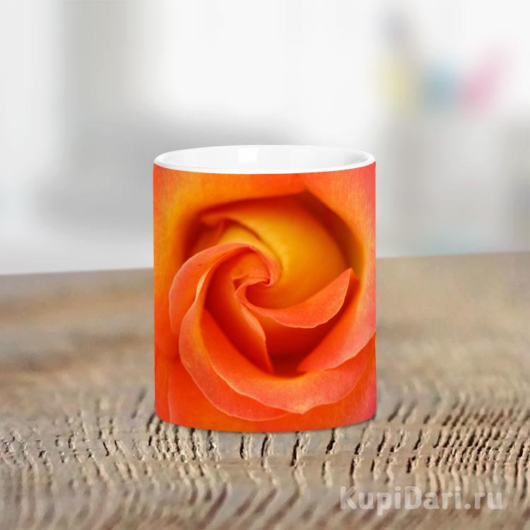 Кружка Оранжевая роза №1