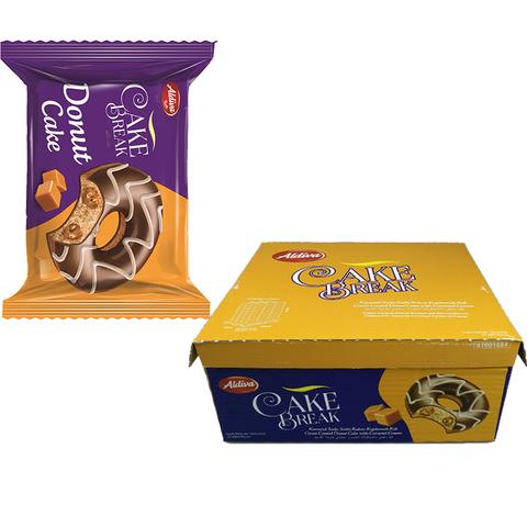 CAKE BREAK DONUT пончик с карамелью, покрытый шоколадом 1кор*6бл*24шт 50гр.