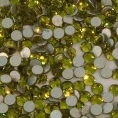 Стразы стекло, ss4 - 2 мм Салатовые 50 шт