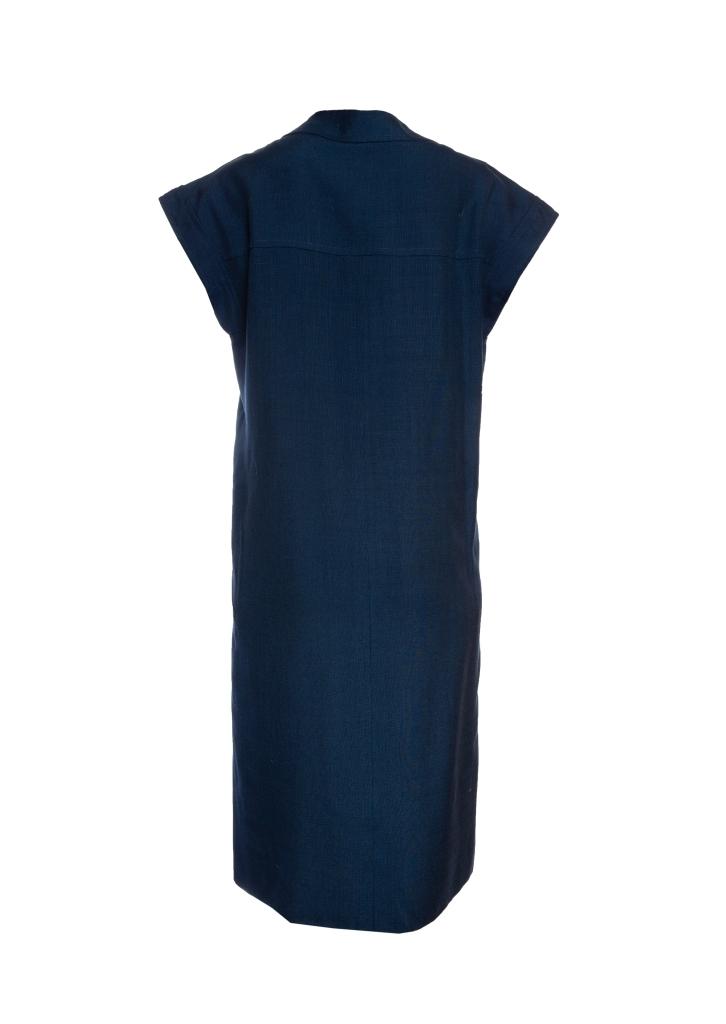 Элегантное платье темно-синего цвета от Chanel, 36 размер.