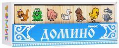 Домино деревянное животные