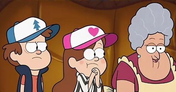 Кепка Мейбл в мультфильме