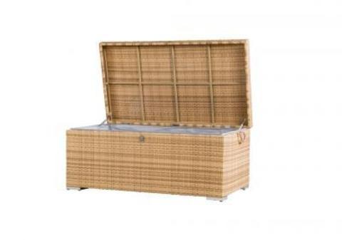 Ящик для хранения вещей плетеный «Тренто» желтый (4SIS)
