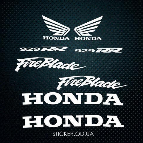 Набор наклеек HONDA CBR 929 Fireblade