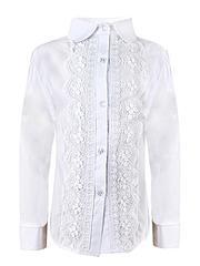 0324 блузка детская, белая