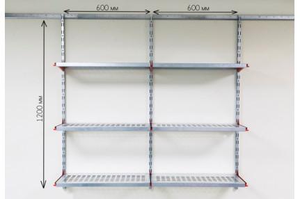 Настенные металлические полки (1220х1200 мм, глубина 315 мм)