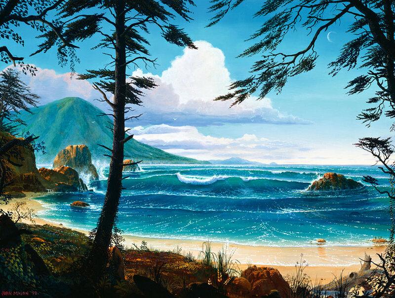 Картина раскраска по номерам 50x65 Волны у берега– купить ...