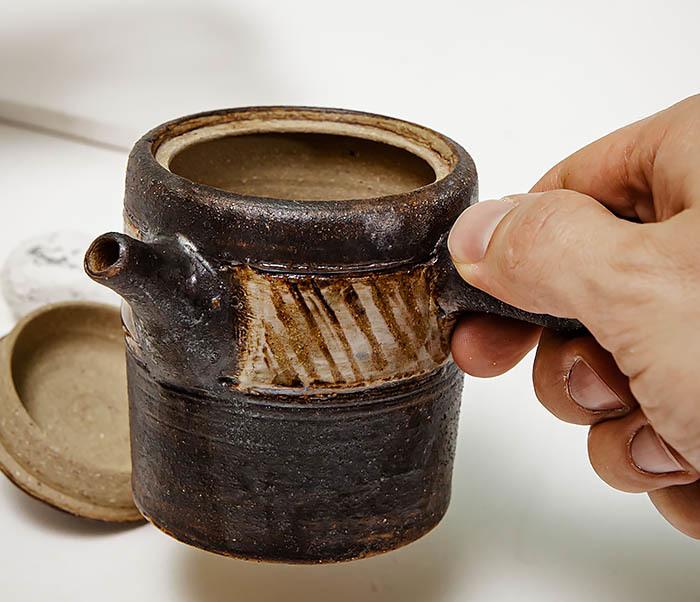 POT103 Керамический чайник ручной работы в японском стиле («Kюсу») фото 08