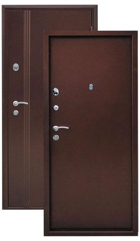 Дверь входная Город Мастеров Иртыш, 2 замка, 1,5 мм  металл, (медь антик+медь антик)