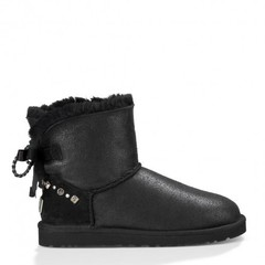 UGG Mini Braid Metallic Black