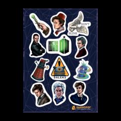 Набор стикеров Doctor Who