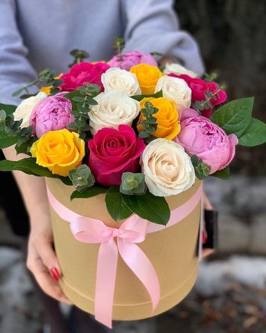 Композиция в подарочной коробке Flower