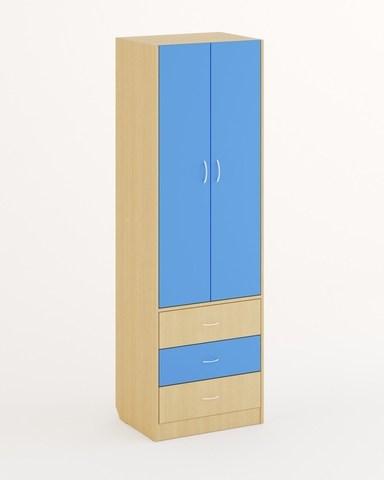 Шкаф ШК-12 дуб беленый / синий