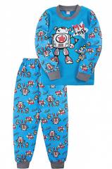 BK3004PJ-4 Пижама для мальчиков, голубая