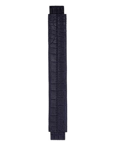 Сменная ручка из кожи с фактурой крокодила синего цвета