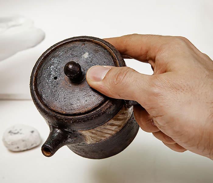 POT103 Керамический чайник ручной работы в японском стиле («Kюсу») фото 10