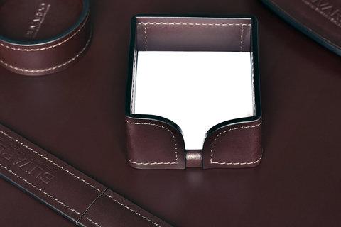 Лоток для блока бумаги BUVARDO LUX из кожи Full Grain Bologna Brown