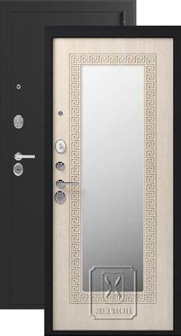 Дверь входная Легион L-1, 2 замка, 1,5 мм  металл, (чёрный муар+дуб седой)