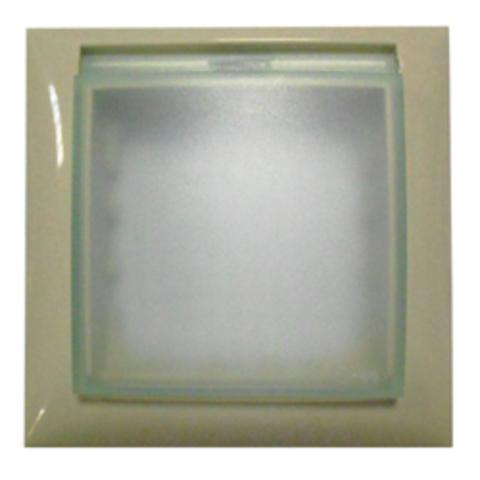 Рамка на 1 пост, универсальная защитная с крышкой для выключателей и розеток. Цвет Бежевый. LK Studio LK60 (ЛК Студио ЛК60). 869101