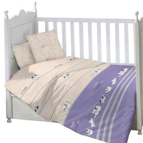 Папитто. Комплект постельного белья из сатина с рисунком