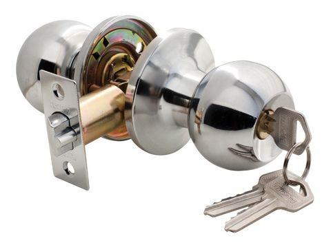 Фурнитура - Ручка-Шар с ключом-завёрткой Rucetti HK-01 L, цвет полированный хром