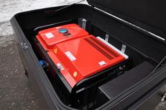Бензиновый генератор установленный в шумозащитный всепогодный еврокожух