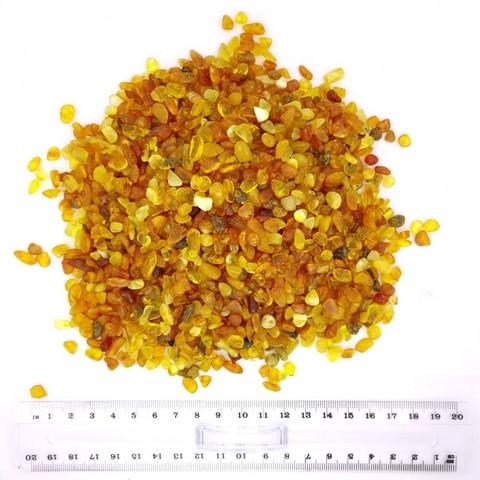 Янтарная крошка ( полуфабрикат ), фракция 6-8 мм (светлый)