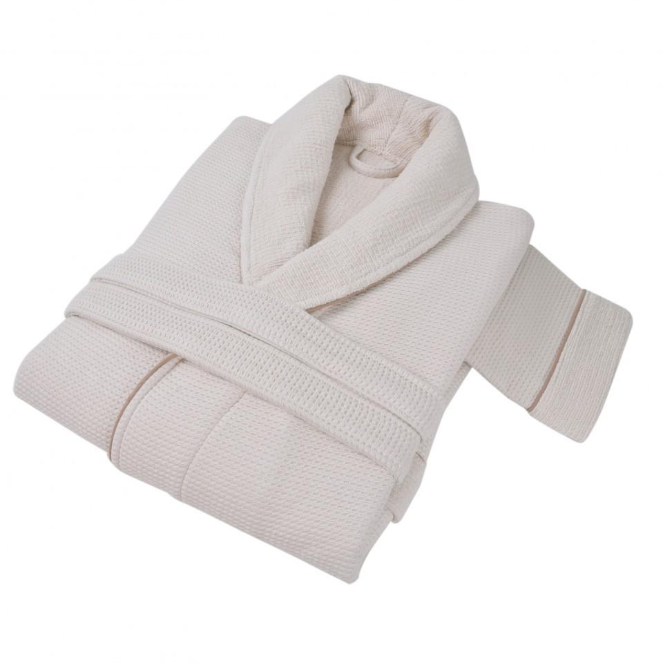 Элитный халат мужской Tosya кремовый от Hamam