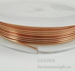 Проволока медная 0,8 мм, цвет - медь, примерно 3 метра