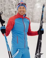 Утеплённая лыжная куртка Nordski Premium Blue-Red 2020