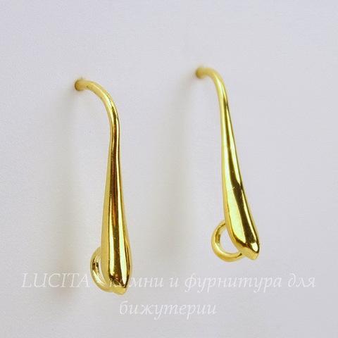 Швензы - крючки с петелькой,20х10 мм (цвет - золото), пара