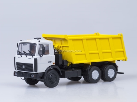 MAZ-5516 tipper gray-yellow AutoHistory 1:43