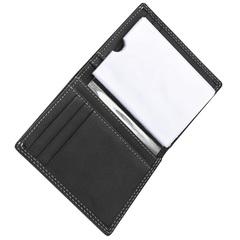 Визитница WENGER Le Rubli, цвет черный, воловья кожа, 8,5×2×10,5 см