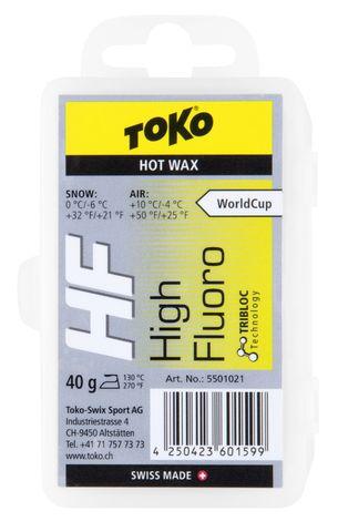парафин Toko TRIBLOC HF жёлтая, 0°/-6°С, 40 гр.