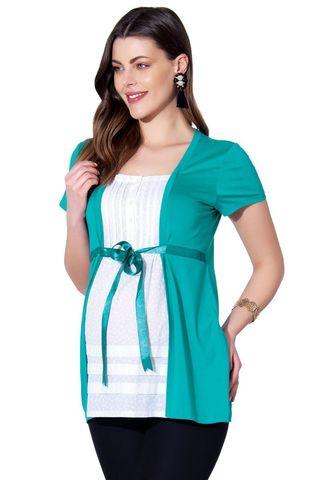 Блузка 01390 зеленый