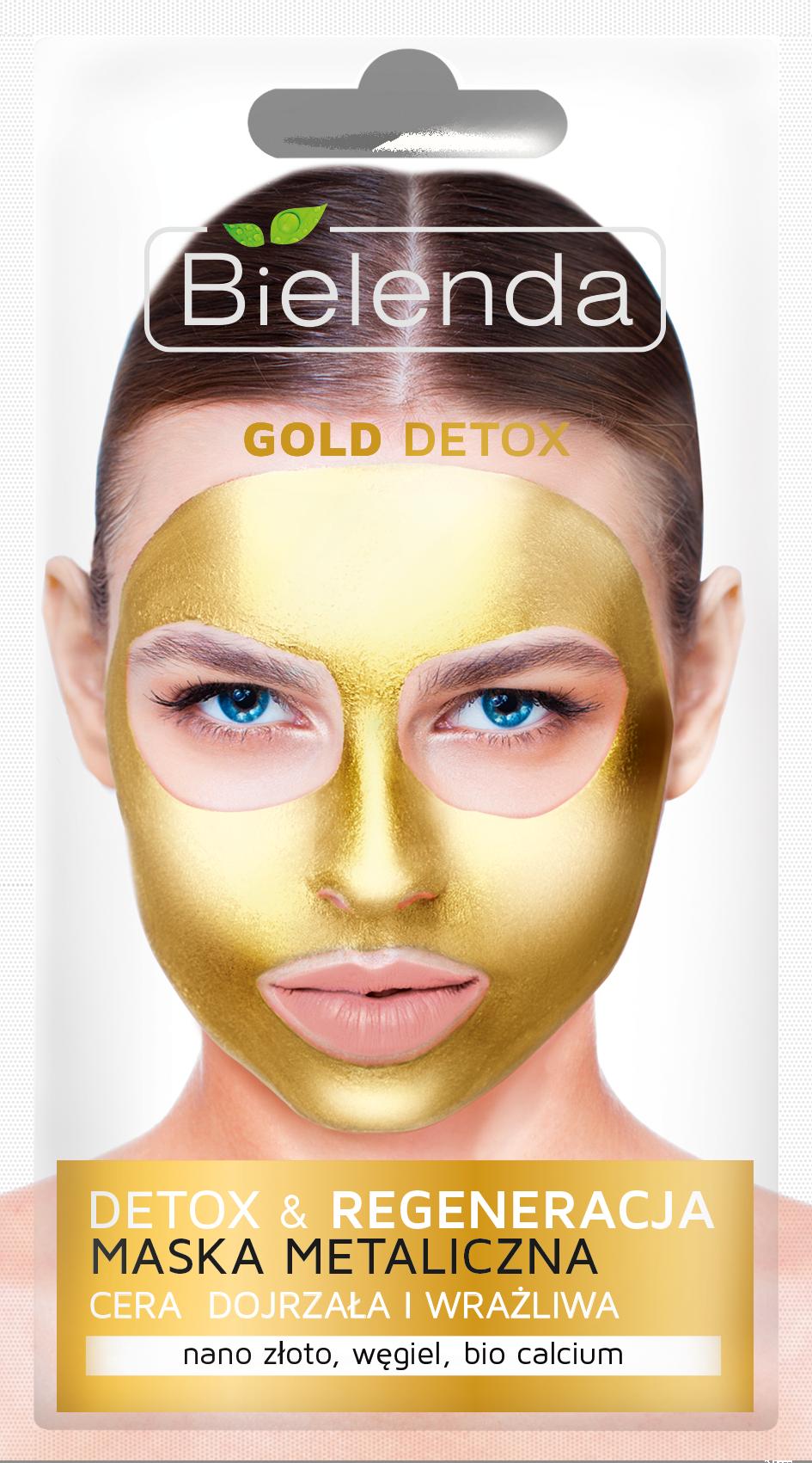 GOLD DETOX Маска с содержанием металлов для зрелой и чувствительной кожи, 8 г