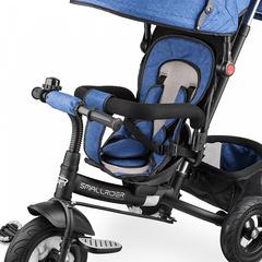 Детский трехколесный велосипед с надувными колёсами (синий)