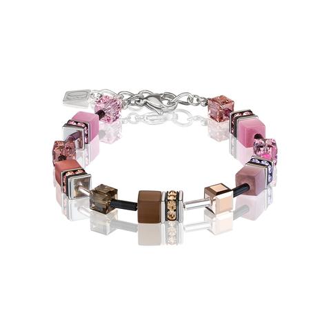 Браслет Coeur de Lion 2838/30-1119 цвет коричневый, розовый