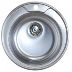 Мойка КромРус ЕС-445 для кухни из нержавеющей стали, круглая