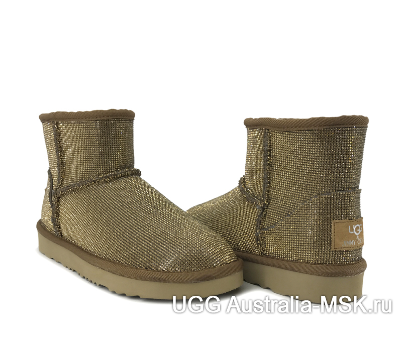 UGG & Jimmy Choo Short Serein II Mini Gold