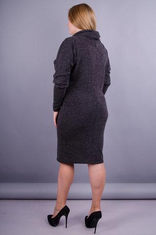 Бріана. Сукня великих розмірів для жінок. Сірий.