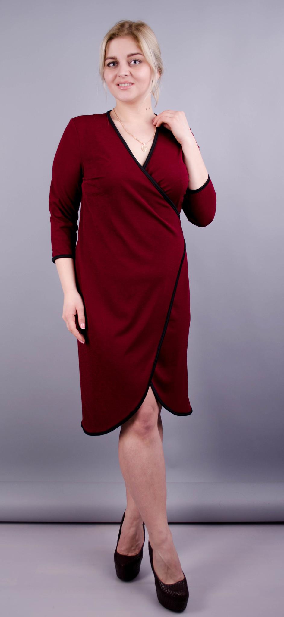 Нателла. Оригінальна сукня великих розмірів. Бордо.