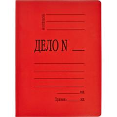 Скоросшиватель картон мел  360 г/м.,красный