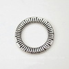 """Коннектор - кольцо """"Полосатое"""" 24 мм (цвет - античное серебро)"""