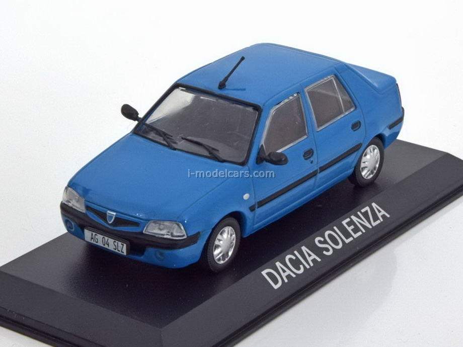 Model Cars Dacia Solenza Blue 1 43 Deagostini Masini De
