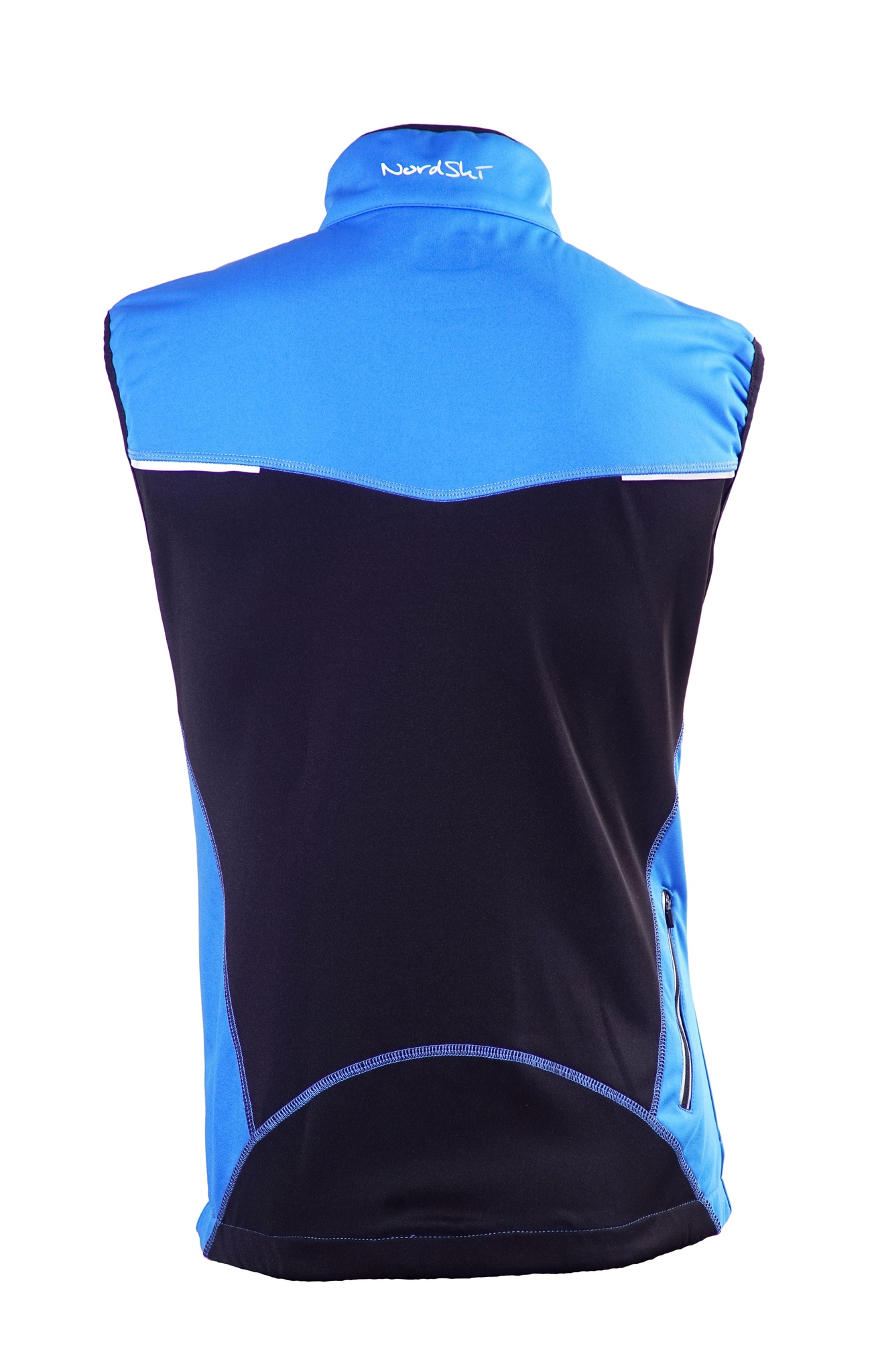 Детский лыжный жилет SoftShell Nordski Premium (NSJ312700) синий фото спина