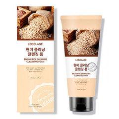 Lebelage Brown Rice Cleaning Cleansing Foam - Освежающая пенка для умывания с экстрактом коричневого риса