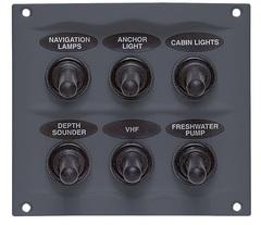 Панель переключателей (6 шт) с резиновыми колпачками